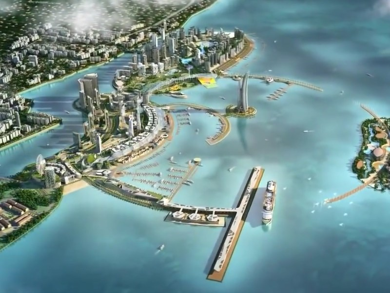 Animation of Melaka Gateway project. Source: Screen capture of KAJ development promotional video