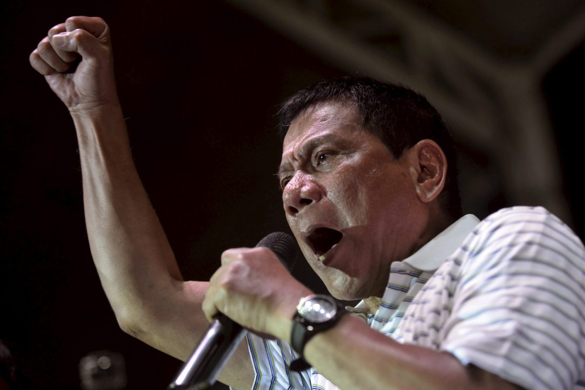 Philippine President Rodrigo Duterte has declared martial law on the island of Mindanao in a bid to combat rising Islamic militancy. Photo: Reuters/Ezra Acayan