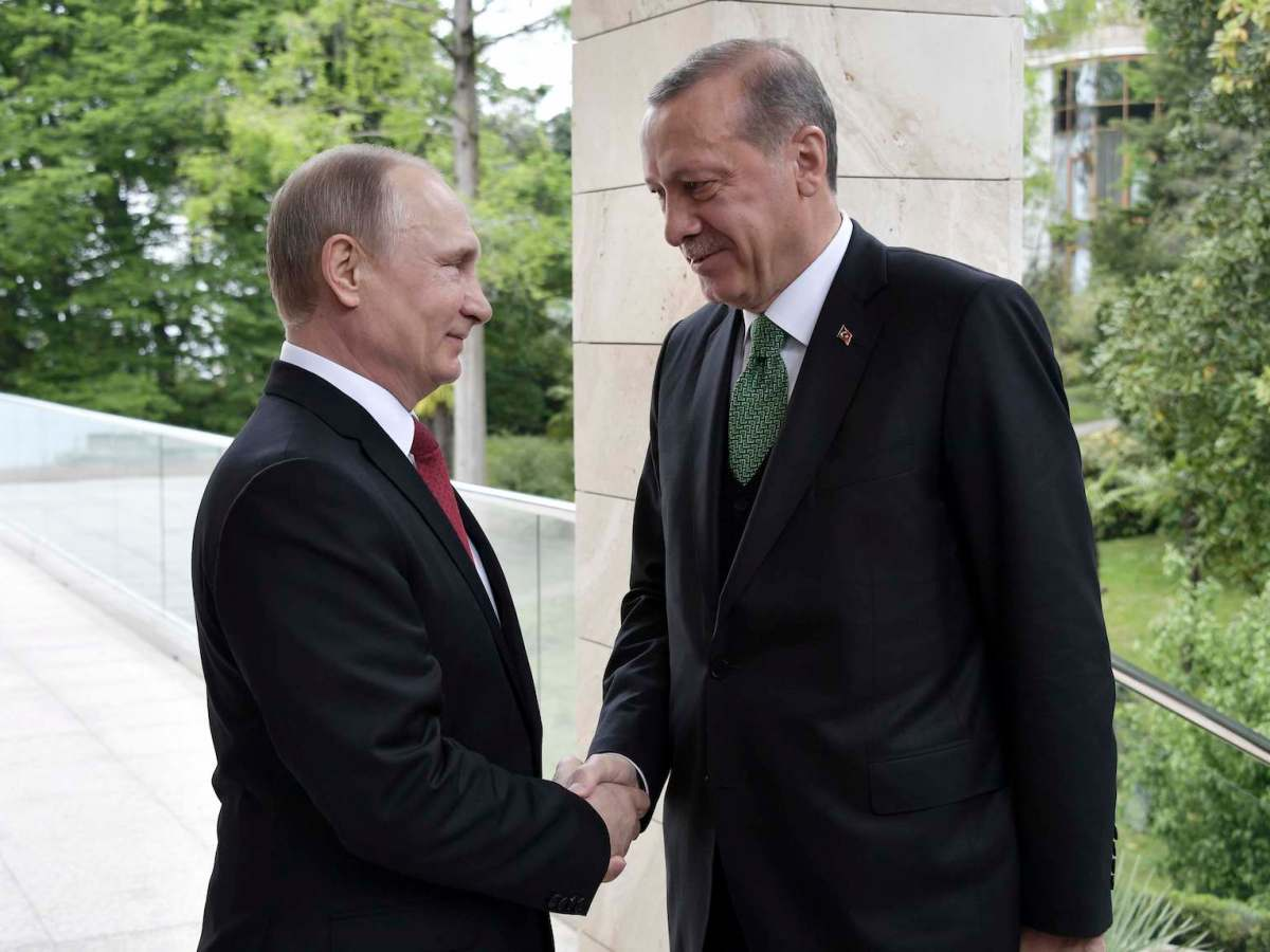 Presidents Vladimir Putin and Tayyip Erdogan meet in Sochi, Russia, on May 3, 2017. Photo: Sputnik/Alexei Nikolsky/Kremlin via Reuters