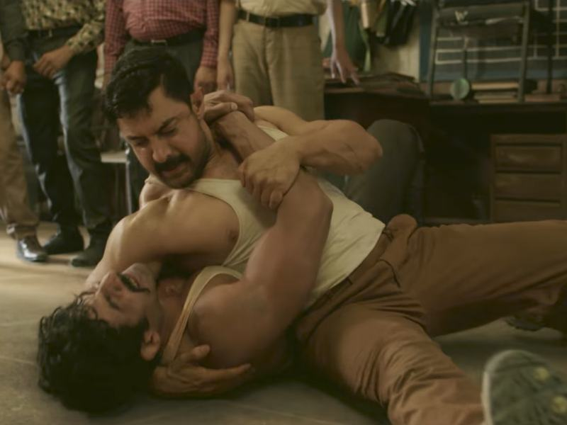 A scene from Hindi film Dangal, whch has topped the box office in China. Photo: YouTube trailer