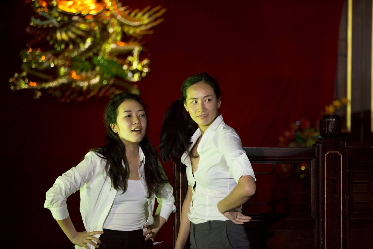 Jennifer Leong and Dandan Liu in the British-Chinese stage play, From Shore to Shore