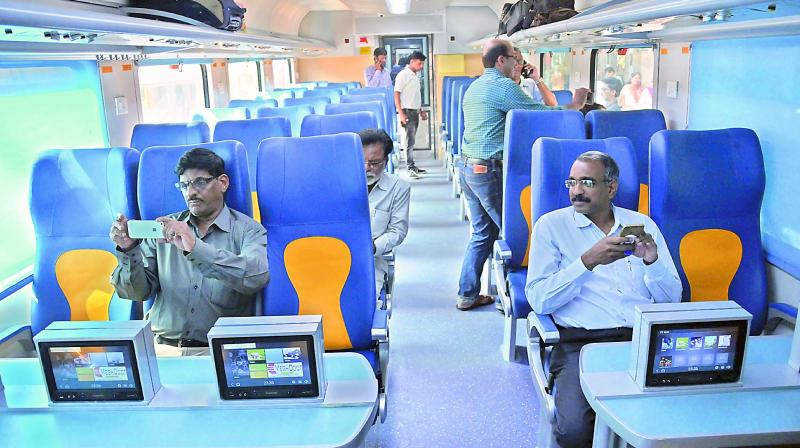 The Mumbai-Goa Tejas Superfast Express, India's first high-speed luxury train. Photo: Deccan Chronicle