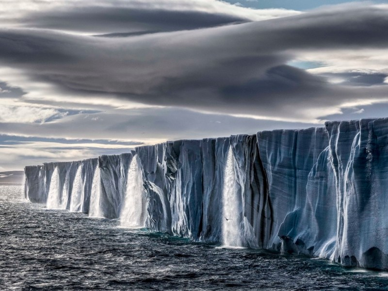 Paul Nicklen, Ice Waterfall. Photo: Courtesy of Paul Nicklen Gallery.