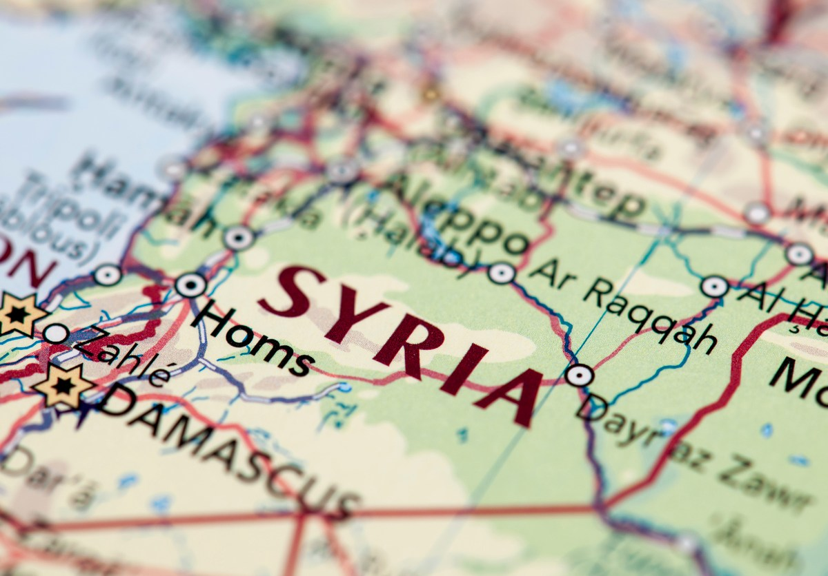 Map of Syria: iStock