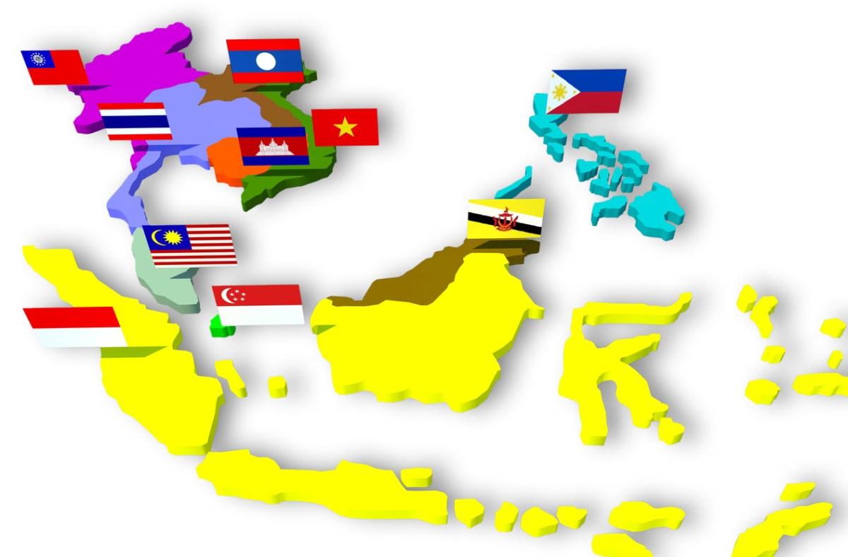 Map of the Asean economic community. Photo: iStock
