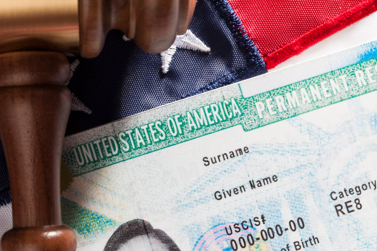 A United States green card. Photo: iStock