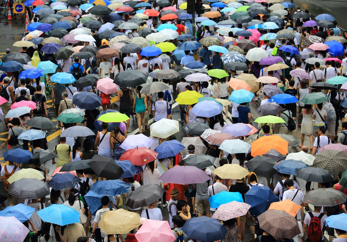 People protest in Hong Kong in July 2014. Photo: iStock