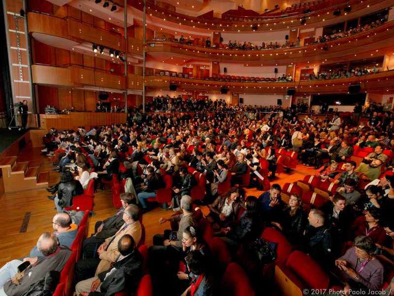 Festival-goers gather for another screening in the splendid Teatro Nuovo Giovanni da Udine. Photo: FEFF