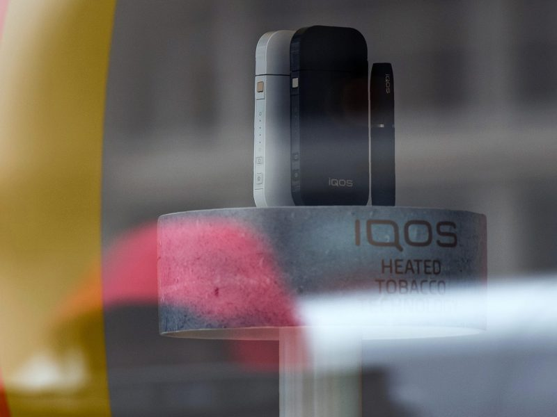 An IQOS product is pictured in a store on London's Wardour Street. Photo: AFP / Chris J Ratcliffe