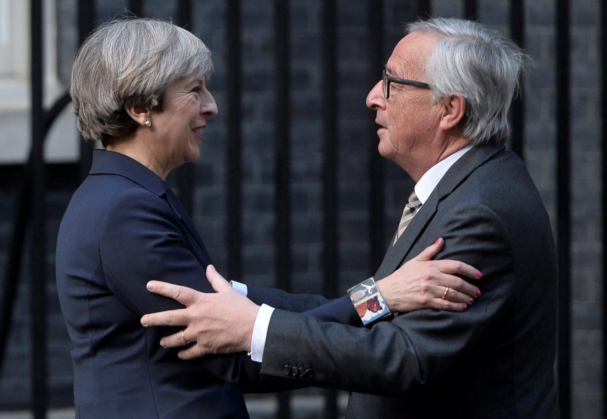 Britain's Prime Minister Theresa May Head of the European Commission Jean-Claude Juncker. Photo: Reuters
