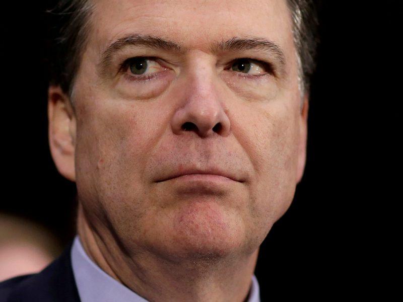 Former FBI director James Comey. Photo: Reuters / Joshua Roberts