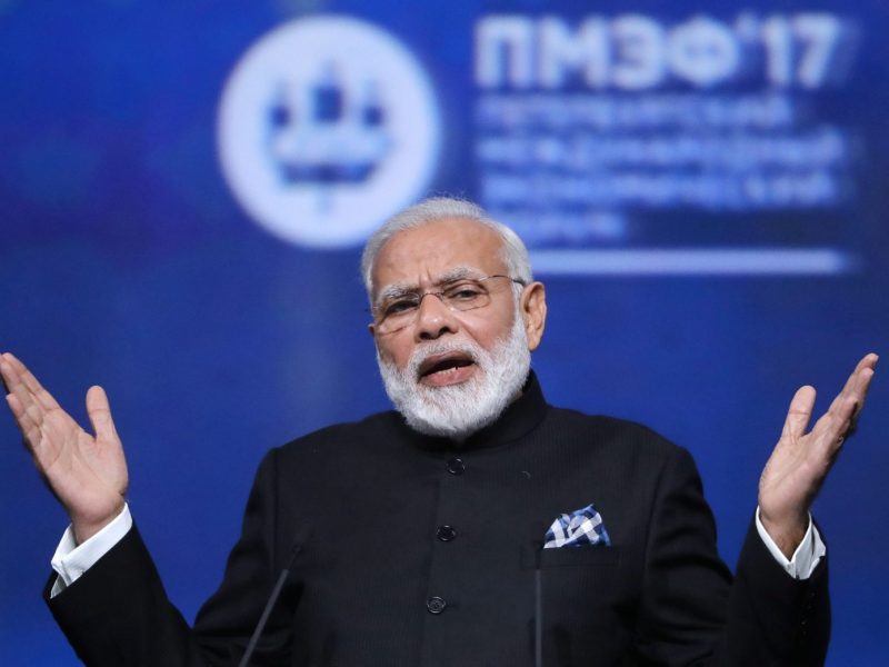 Indian Prime Minister Narendra Modi. Photo: Reuters/Mikhail Metzel/ TASS