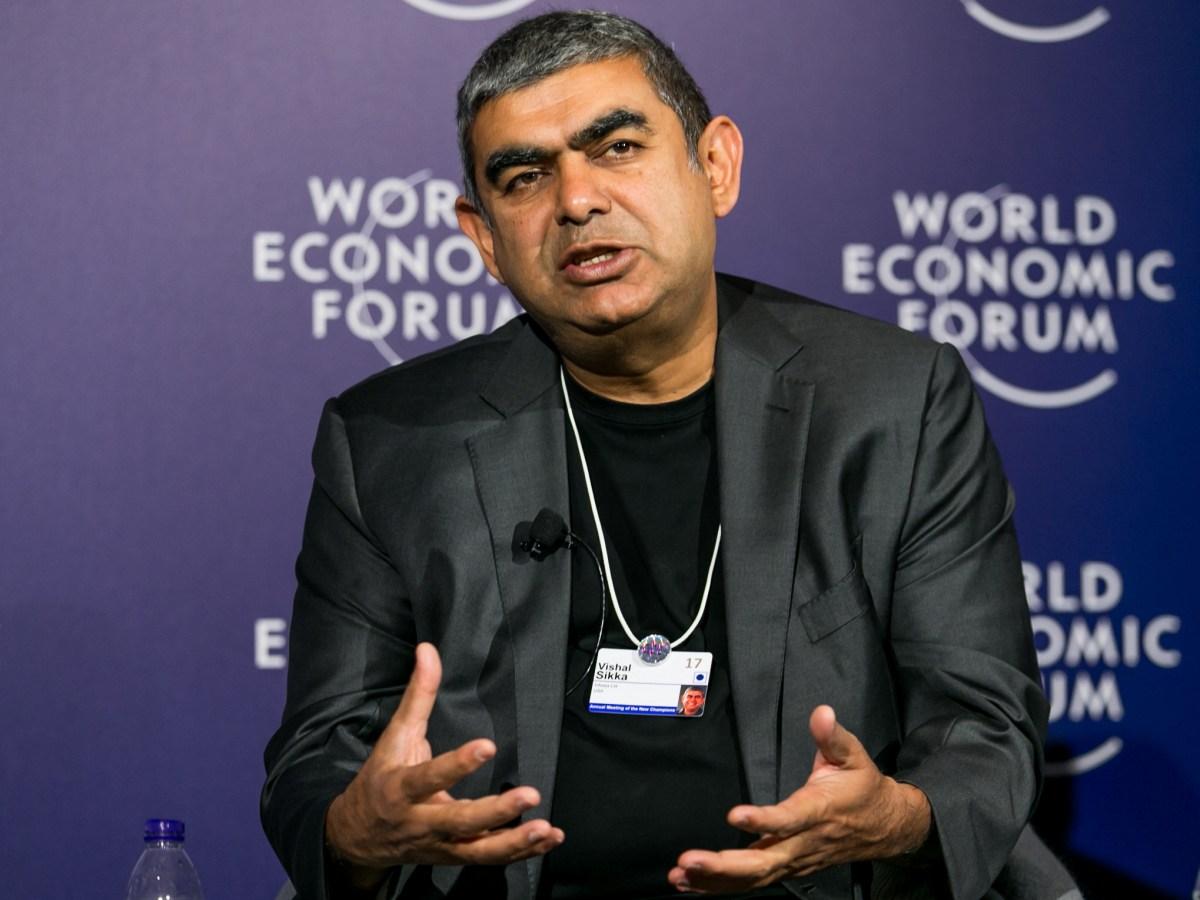 Vishal Sikka has resigned as chief executive of Infosys. Photo: World Economic Forum/ Benedikt von Loebell via Flickr