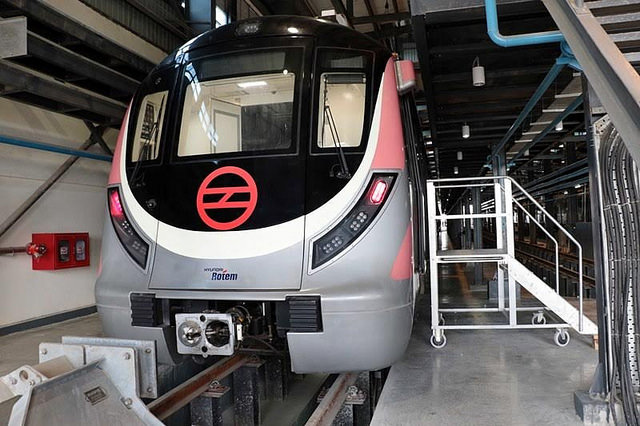The new driverless Delhi Metro train. Photo: Flickr Commons