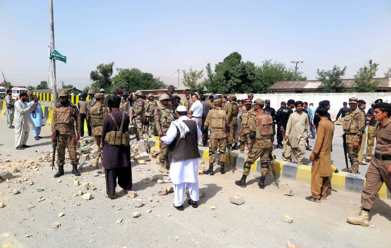 Security officials cordon off an area after a bomb blast in Quetta, Baluchistan in August last year. Photo: iStock