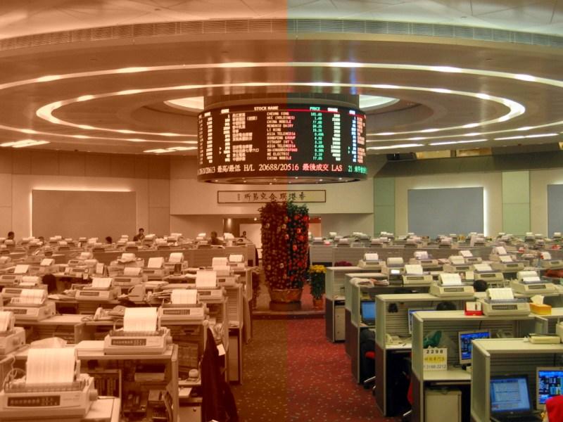 Hong Kong stock exchange Photo: Wikimedia Commons