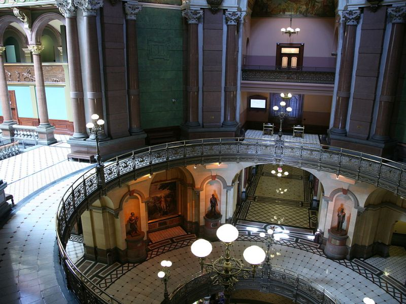 Illinois State Capitol interior. Photo: Wikipedia Commons