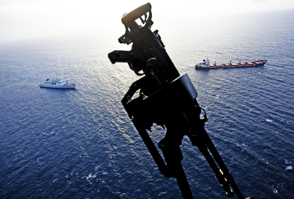 A Lynx Helicopter hovers over the Indian Ocean in a file photo. ANP via AFP Forum/Robin Utrecht
