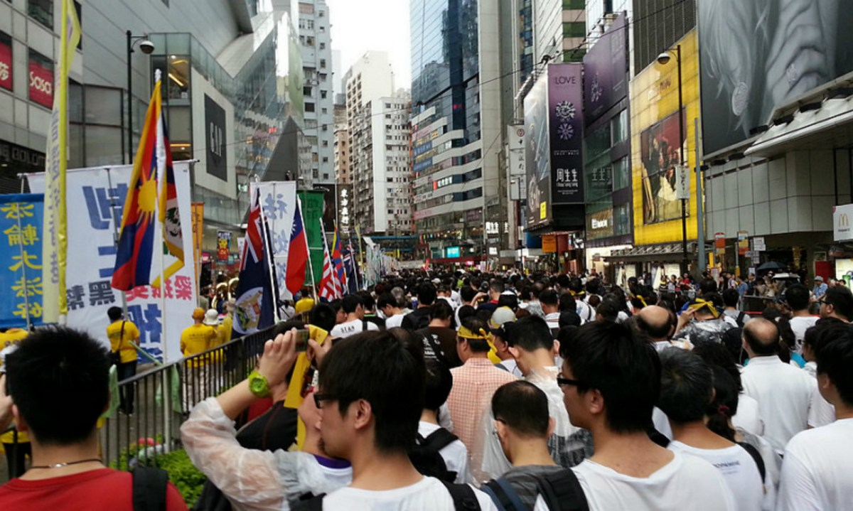 Protestors rallied on street for democracy in 2013. Photo: Asia Times