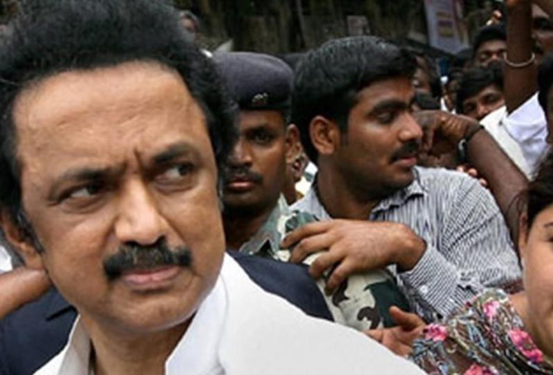 DMK's working president MK Stalin wants the Tamil Nadu government headed by AIADMK to be dissolved. --Photo/Reuters/Files