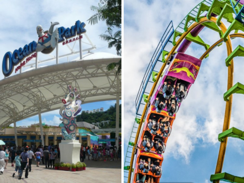 The Dragon, right, at Ocean Park in  Wong Chuk Hang. Photo: Wikimedia Commons