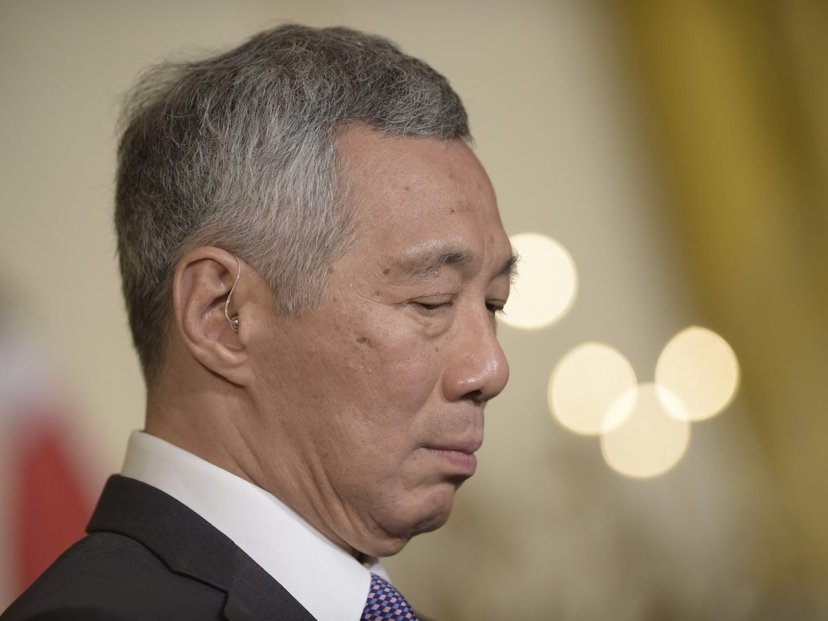 Singapore Prime Minister Lee Hsien Loong. Photo: AFP/Brendan Smialowski