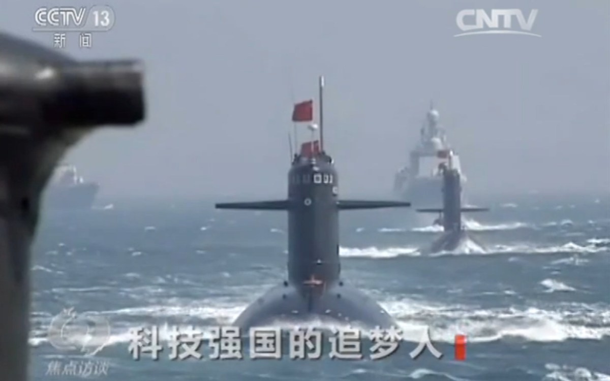 Conventional Chinese submarines. Source: China Network Television