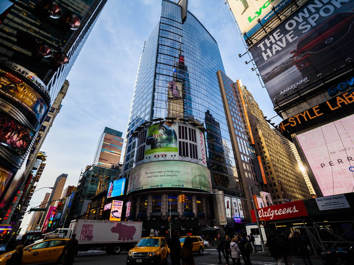 Conde Nast Building in Times Square, New York City. Photo: iStock