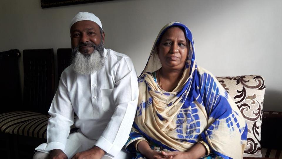 Mohammad and Saira Patel. Photo: Hindustan Times