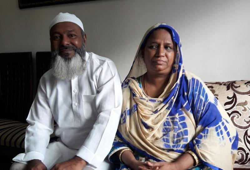 Mohammad and Saira Patel. Photo: Hindustan Times