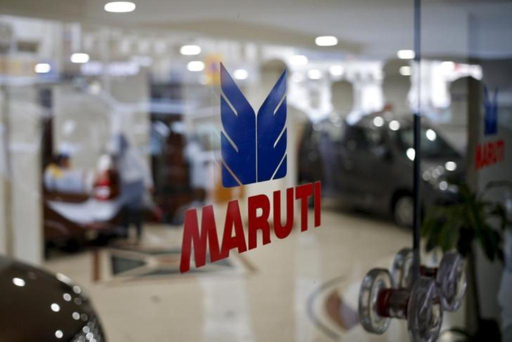 The logo of Maruti Suzuki on a glass door at a showroom in New Delhi, India. Photo: Reuters