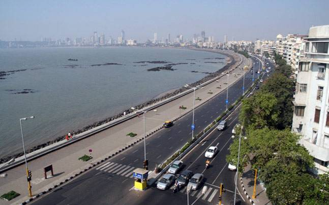 Mumbai's Marine Drive, where a teenager was washed out to sea on Tuesday. Photo: indiatoday