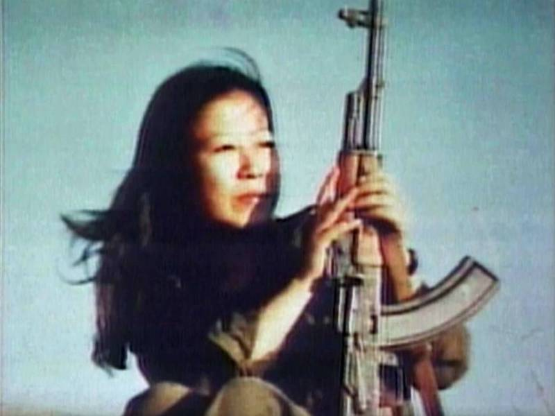 Japanese Red Army founder Fusako Shigenobu, shown here in the documentary 'Children of the Revolution,' spent nearly 30 years in hiding before being arrested in 2000. | © TRANSMISSION FILMS 2011