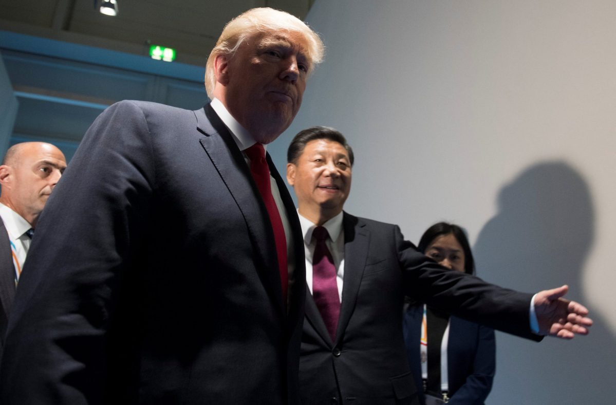 US President Donald Trump and his Chinese counterpart Xi Jinping.  Photo: Reuters / Saul Loeb