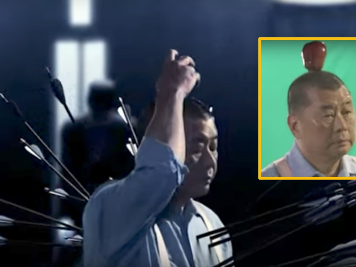 Jimmy Lai is seen in an  advertising video for Apple Daily in 2015, when it celebrated its 20th anniversary. Photo: Next Digital, Youtube.