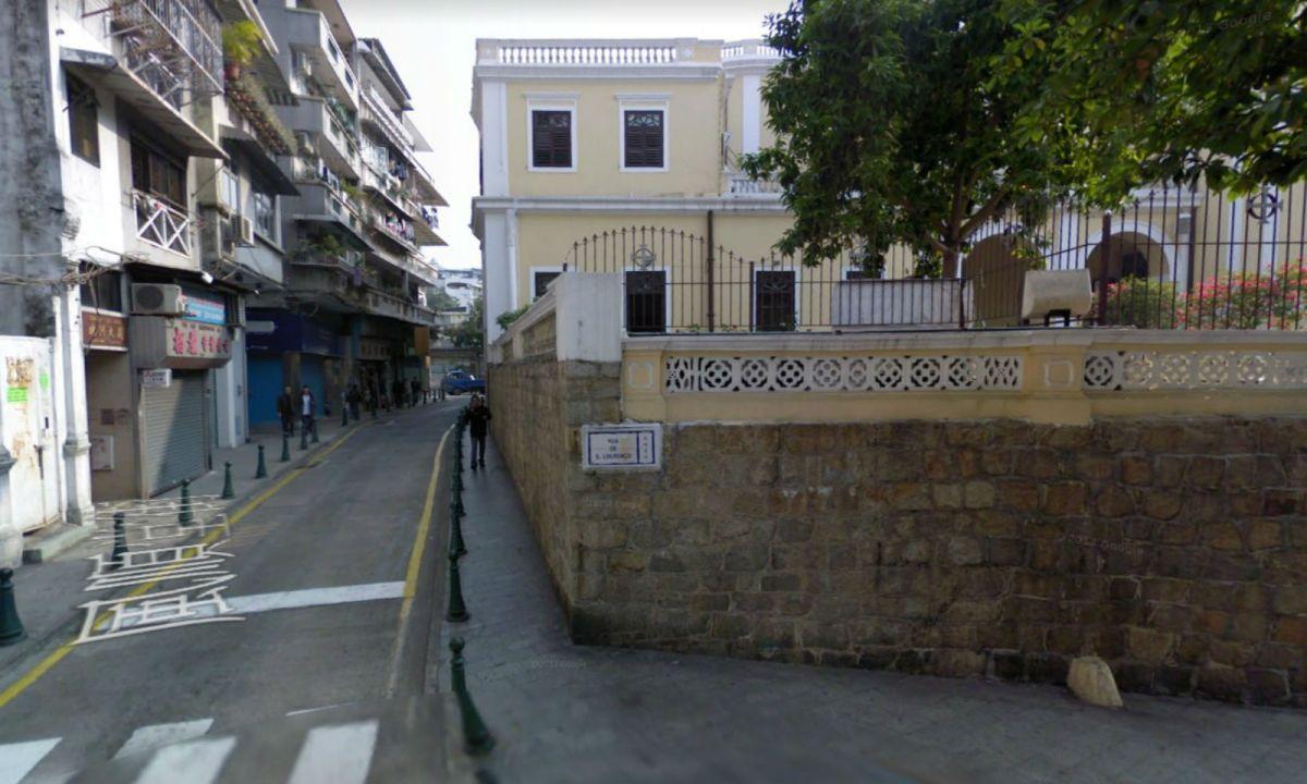 Rua de S. Lourenço, Macau. Photo: Google Maps
