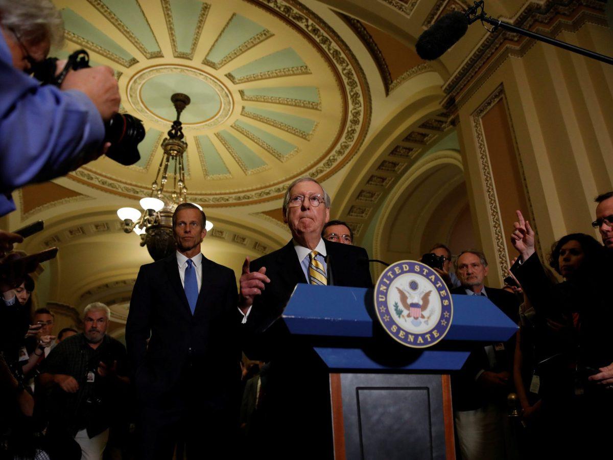 Senate Majority Leader Mitch McConnell. Photo: Reuters / Aaron P. Bernstein
