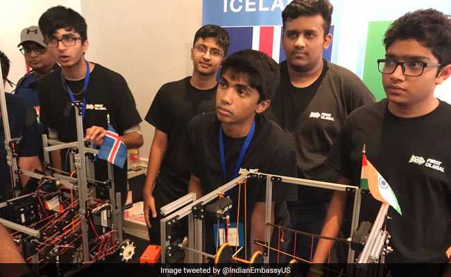 Members of the Mumbai student robotics team. Photo: NDTV