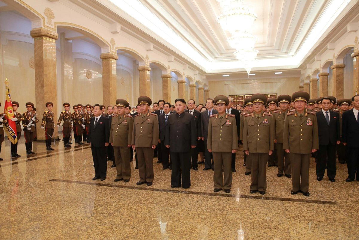 North Korean leader Kim Jong Un marks the occasion of the 23rd anniversary of the demise of the country's founding father Kim Il Sung in Pyongyang July 8, 2017. Photo: KCNA