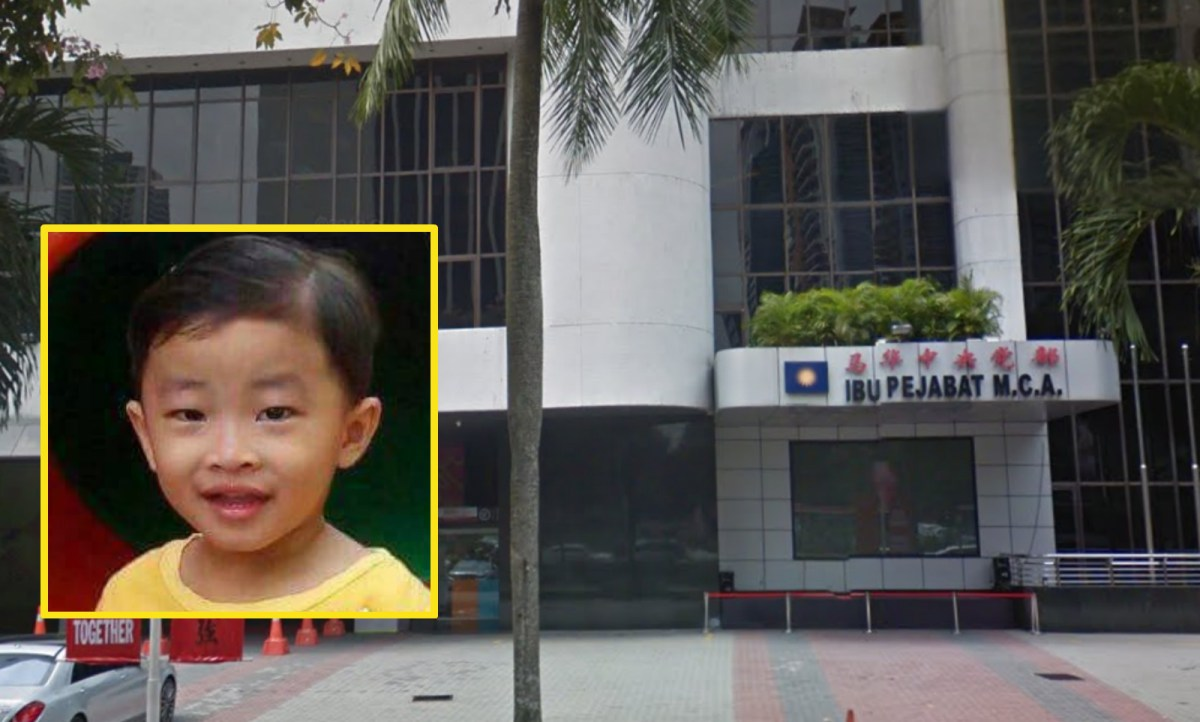 A Malaysian man has sought help from MCA Public Services and Complaints Department to search for his son Lim Kim Ming (inset). Photo: Google Maps, Facebook.