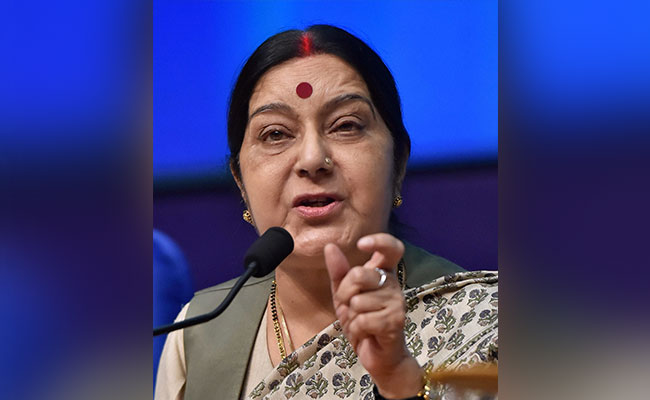 Indian Minister of External Affairs Sushma Swaraj. Photo: NDTV