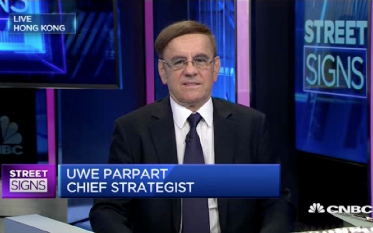 Uwe Parpart, chief strategist at Capital Link International, on CNBC's Street Signs show on July 10, 2017. Photo: CNBC screen grab