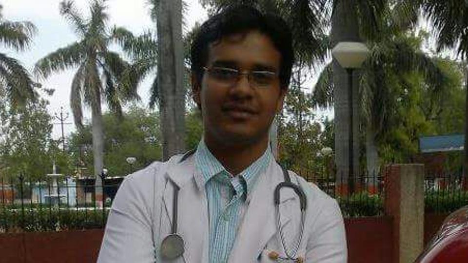 Radiology intern Sashwat Pandey was murdered at St Stephen's Hospital in north Delhi on Friday. Photo: Hindustan Times