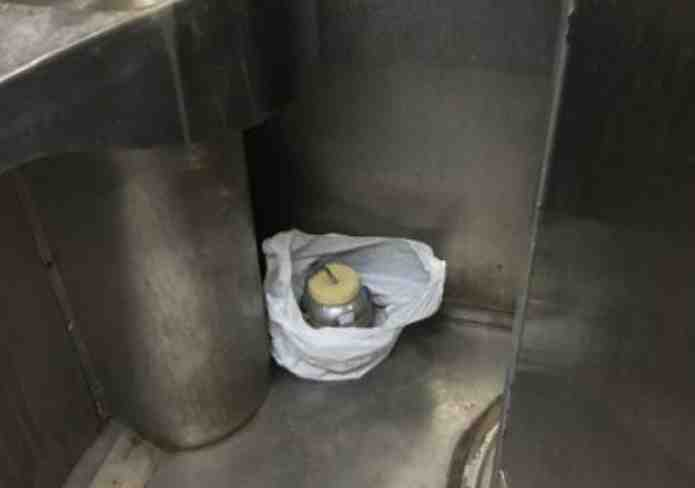 A low-intensity bomb found in a toilet on a train bound for Amritsar early Thursday. Photo: The Times of India