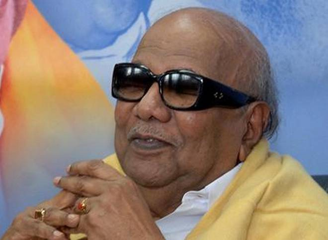 Dravida Munnetra Kazhagam chief M Karunanidhi. Photo: The Hindu