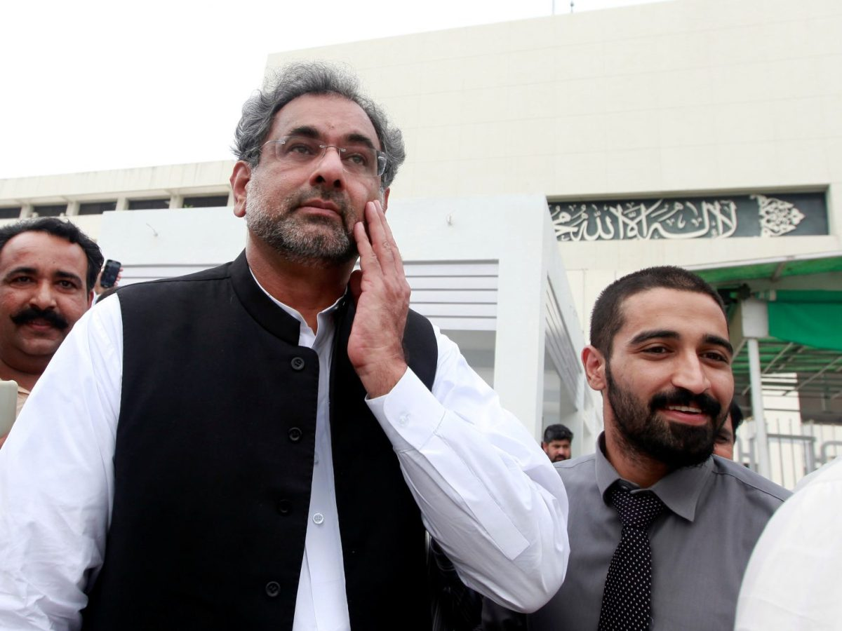 Shahid Khaqan Abbasi, Pakistan's outgoing prime minister, is the latest politician to be disqualified by a court. Photo: Reuters / Faisal Mahmood