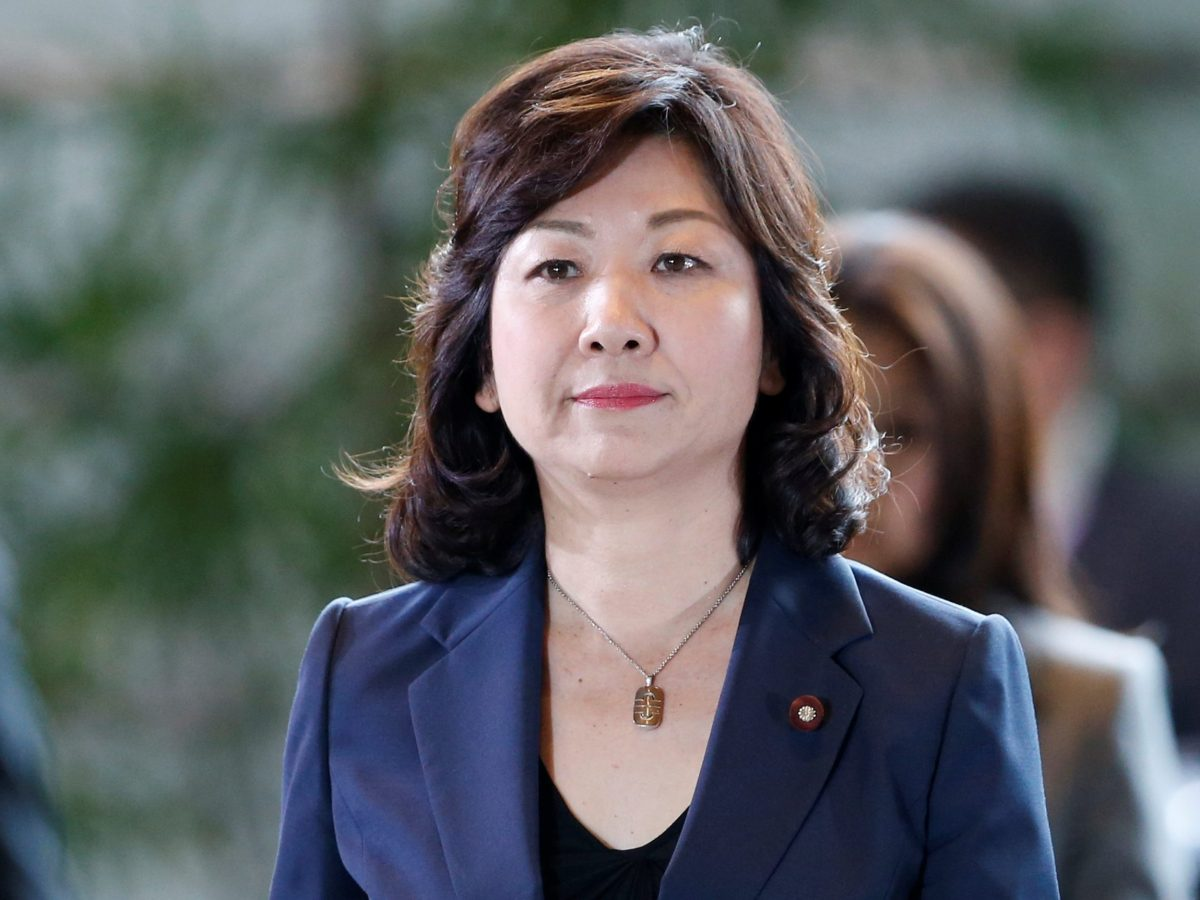 Japan's new Internal Affairs Minister Seiko Noda arrives at Prime Minister Shinzo Abe's official residence in Tokyo, Japan, August 3, 2017. Photo: Reuters / Toru Hanai