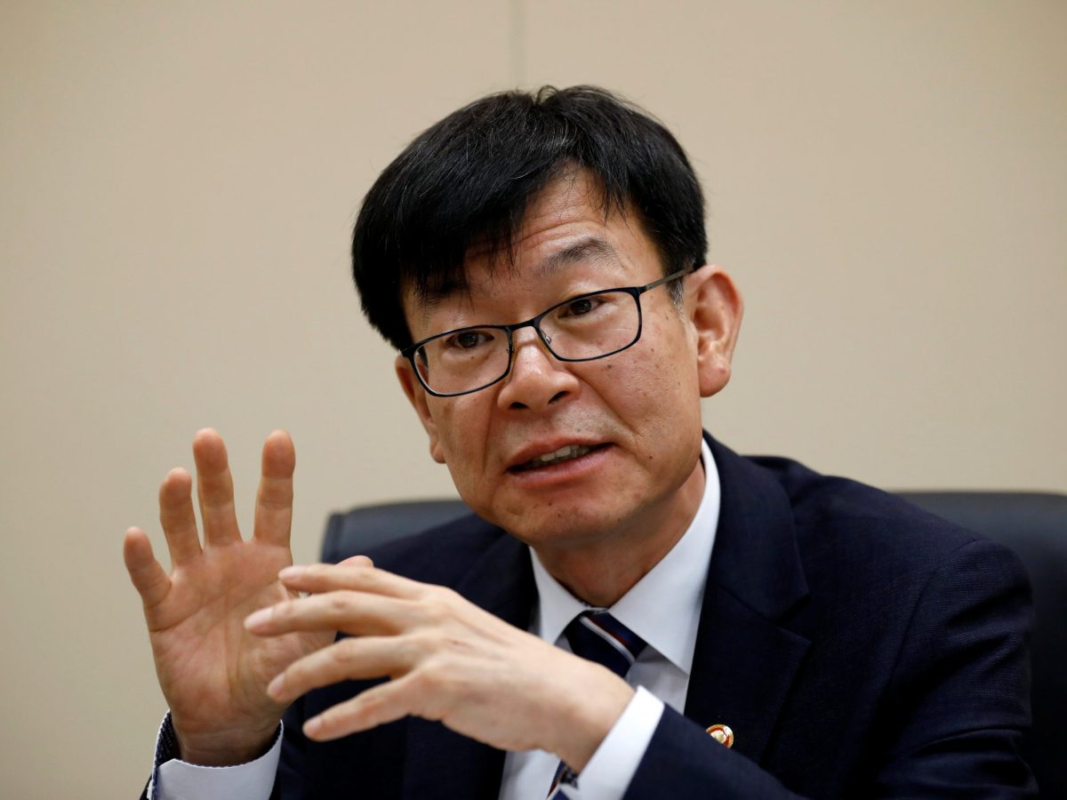 Kim Sang-jo, the Chief of Korea Fair Trade Commission, speaks during an interview with Reuters in Seoul, South Korea August 18, 2017. REUTERS/Kim Hong-Ji
