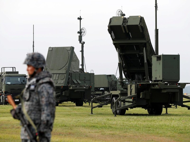 Japan's Self-Defense Forces with the Patriot Advanced Capability-3 missile defense unit at a US Air Force on the outskirts of Tokyo in 2017. Photo: Reuters/Issei Kato