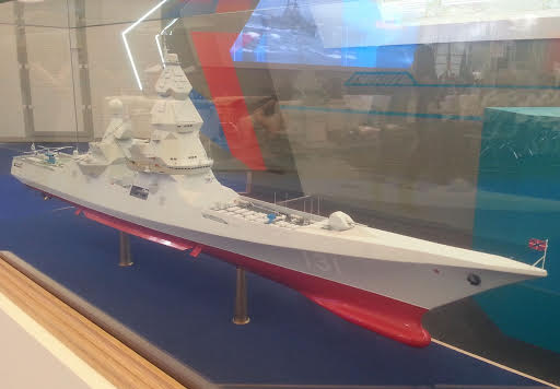 Model of Lider-class destroyer preliminary design on ARMY-2015. Photo: Wikipedia